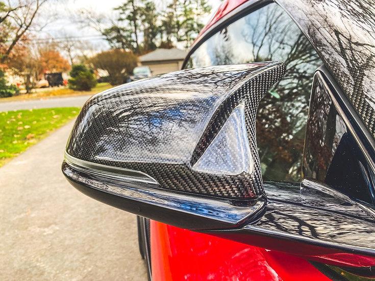 East Coast Supra M Inspired Carbon Mirror Caps