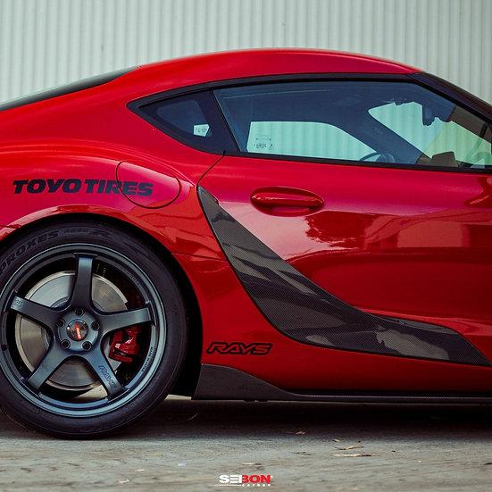 Seibon 2020 Toyota GR Supra OEM-Style Carbon Fiber Door Garnish