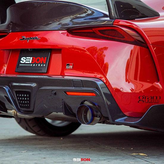 Seibon 2020 Toyota GR Supra Carbon Fiber Rear Diffuser