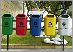Separação de lixo reciclável