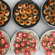 Some canapés from Renee and Simon's amaz