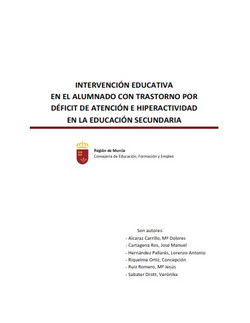 Intervención educativa del alumnado