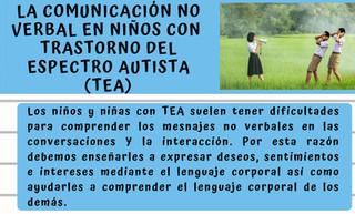 Comunicación No Verbal en niños con TEA