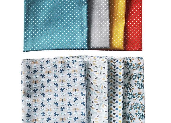 Lot de 4 serviettes de table Oeko-tex