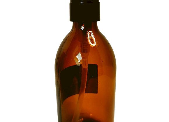 Flacon pompe en verre ambré 300mL