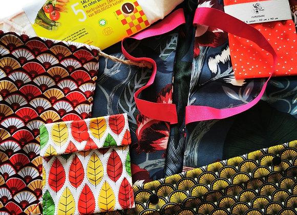 Pack cadeau emballages en tissu