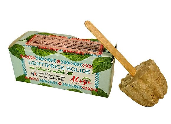 Dentifrice solide artisanal menthe poivrée et menthol