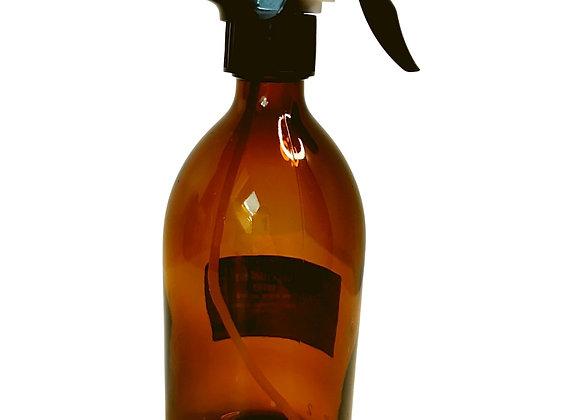 Flacon spray en verre ambré 500 mL