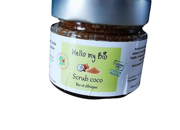 Scrub coco, exfoliant doux bio