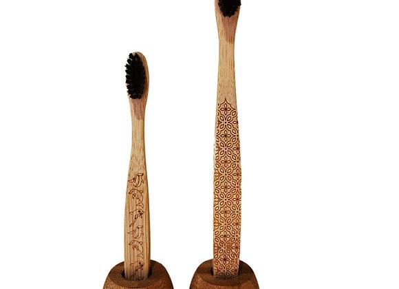 Support à brosse à dents en bambou