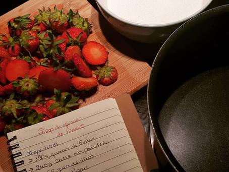 Recette de sirop de queues de fraises