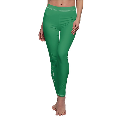Bella Script Leggings (green)