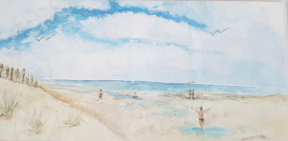dichtbij de duinen, het strand en de zee