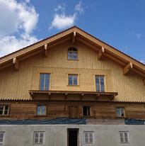 Aufstockung, Sanierung, Trockeneisstrahlen Bauernhaus Münsing