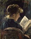 Lovis_Corinth_-_Lesendes_Mädchen_(1888).