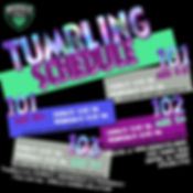 Tumbling Schedule - Made with PosterMyWa
