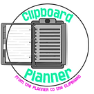 Clipboard Planner Logo - Made with Poste