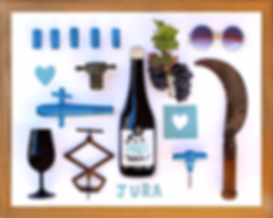 Domaine Tony Bornard Graphisme identité visuelle. Wine label designed by Charlene Bornard