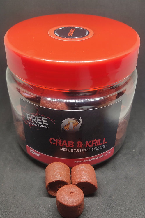 Crab & Krill Pre-Drilled Hookbait Pellets