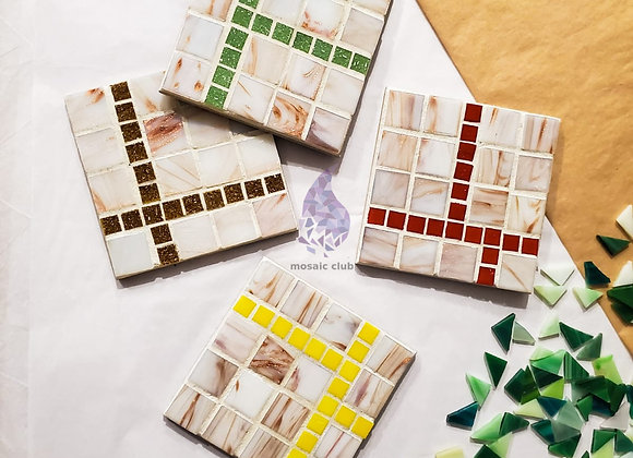 Mosaic Kit - Holiday Cup Coasters