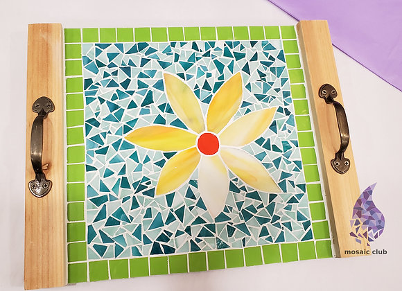 Mosaic Kit - Flower Pattern Tray