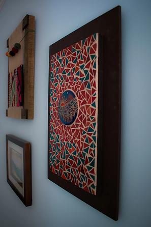 mosaics on wall