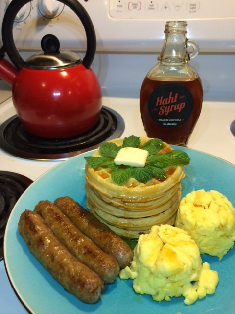 Anytime Breakfast with Haht Syrup
