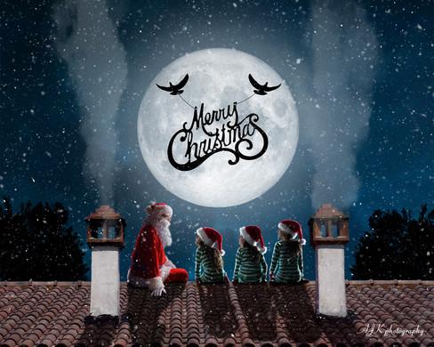 Santa on roof doves triplets fb.jpg
