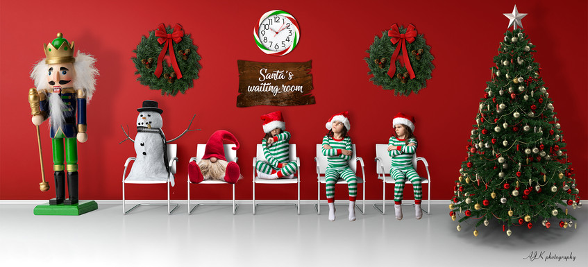 Santa's waiting room red triplets fb.jpg