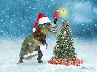 Juliette and T Rex Christmas tree fb.jpg