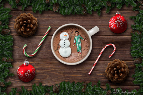 marshmallow snowman hot chocolate with A
