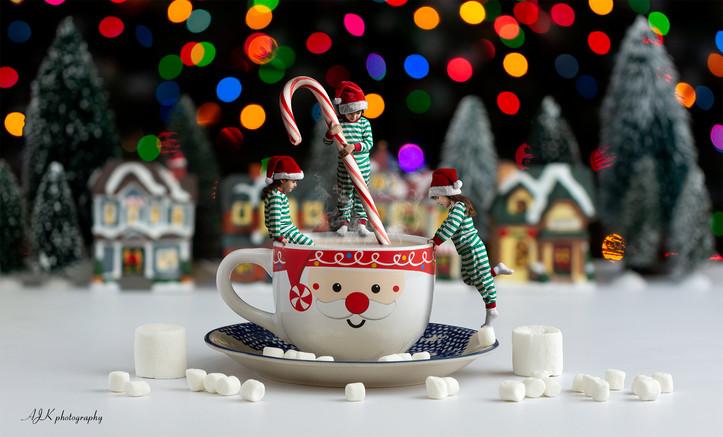 christmas hot chocolate candy cane versi