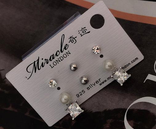 JE16270B/270 Silver Earrings