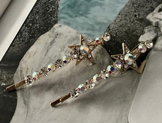 150200590/215 Gold-Pins Clear-Diamante