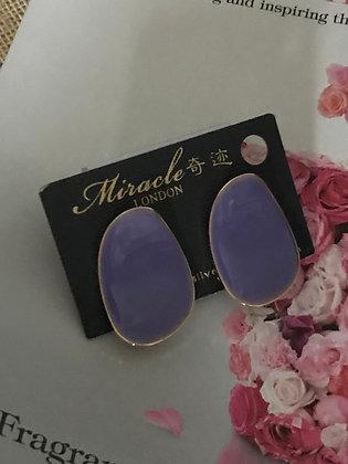 TY09483A0Z/300  (Purple). GOLD STUD EARRINGS