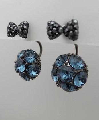 20679142800B/0455(Blue).SILVER STUD EARRINGS