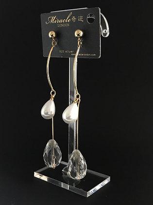 L08010G0Z/420 GOLD DANGLE EARRINGS