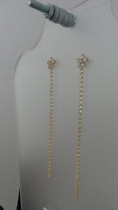 20700000201/00495. GOLD DANGLE EARRINGS