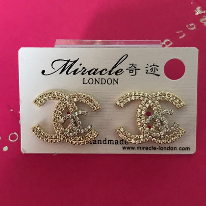 CC Style Gold and Rhinestones with Silver-Pins