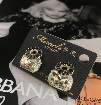 20635460200B/655 Clear-Crystal Black-Diamante