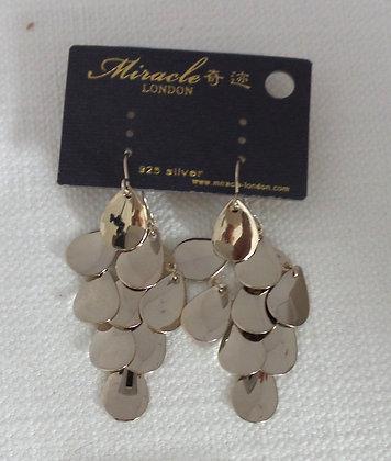20696270799/00525(Gold-Brown) GOLD DANGLE EARRINGS