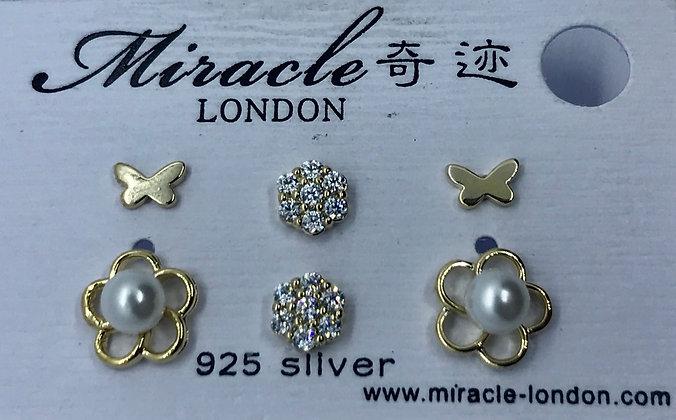 TC08323YZT/357 Gold Stud Earrings