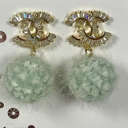 19. CC style Gold and Rhinestones with pompom