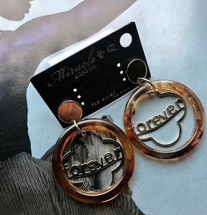 20685700200B/455 Gold Colour Resin Earrings