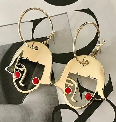 20727230225/355 Gold Earrings
