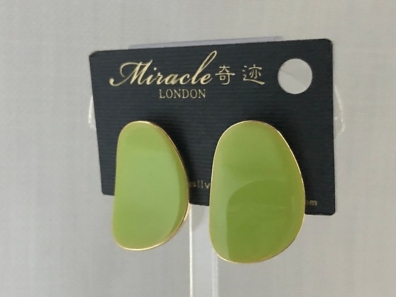 TY09483A0Z/300 (Green).GOLD STUD EARRINGS