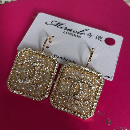 CC  Style Gold with Rhinestones and Pearls