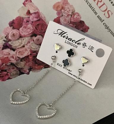 JE17306B/480 Silver Earrings