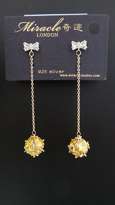 20633530200/00625(Gold-Yellow) GOLD DANGLE EARRINGS