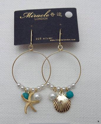 20664040200/0455 GOLD DANGLE EARRINGS